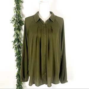 Forever 21 olive green blouse